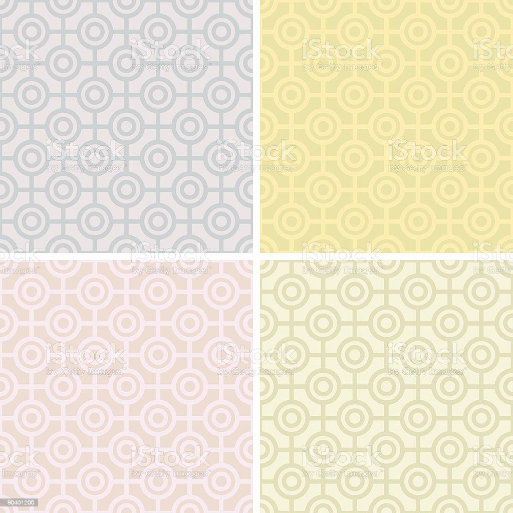 Bullseye Pattern in Pastels royalty-free stock vector art