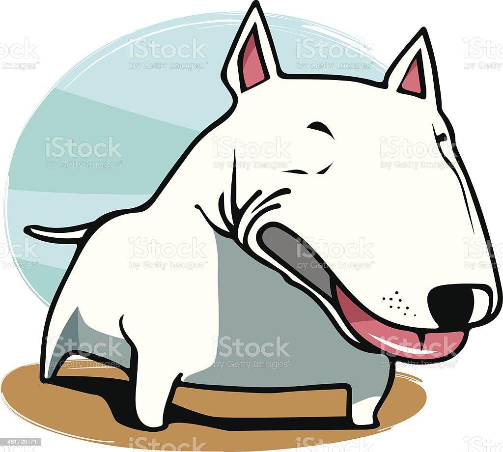 Bullterrier vector art illustration