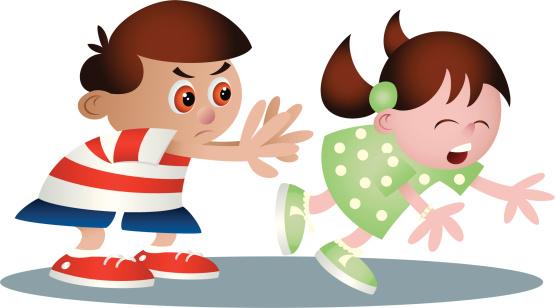 Bully Pushing Cartoon