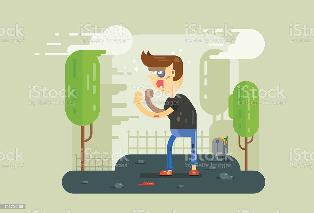 bully vector art illustration