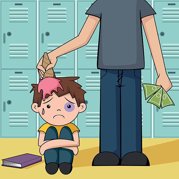 bullying - evil money stock illustrations, clip art, cartoons, & icons