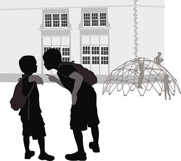 drangsalieren - grundschule stock-grafiken, -clipart, -cartoons und -symbole