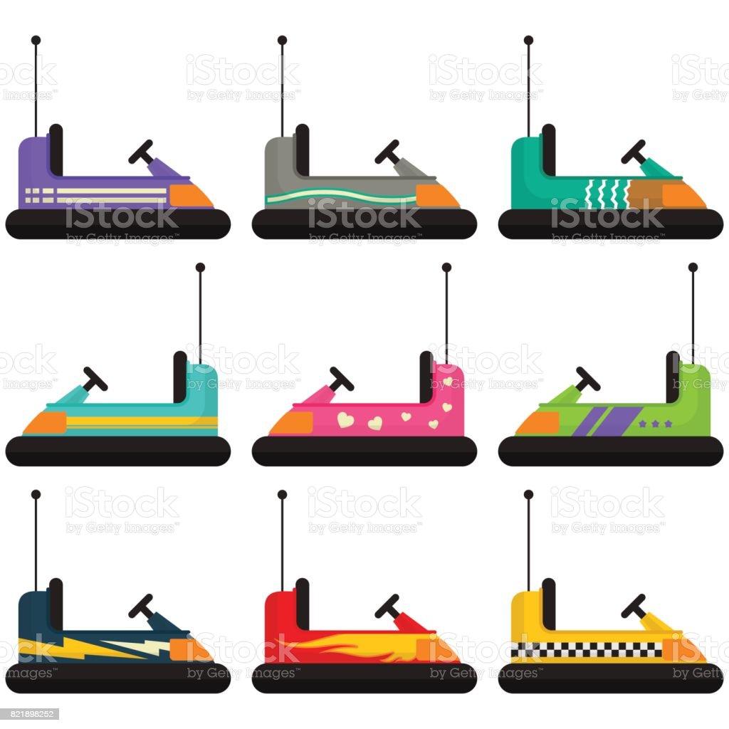 Colección de coches de golpe - ilustración de arte vectorial