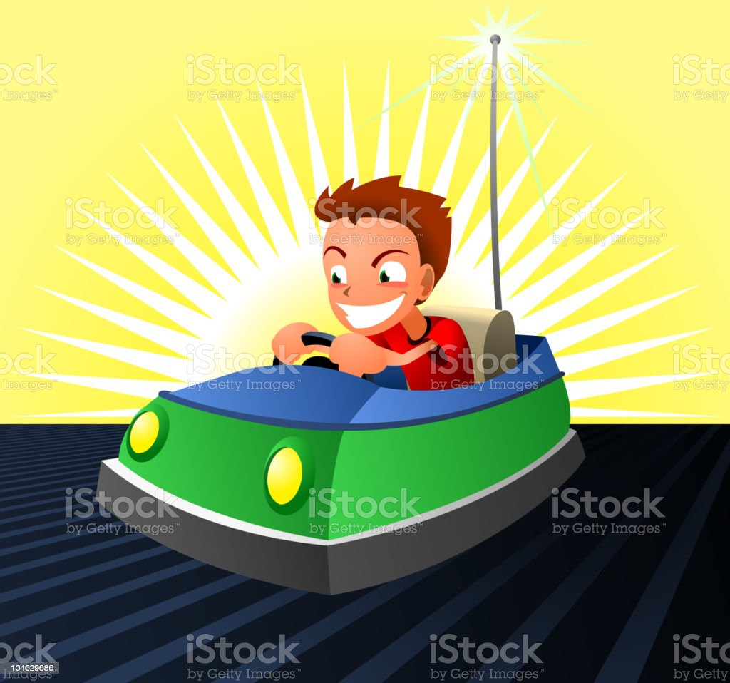 Bumper Car Dodgem Cars Amusement Park royalty-free stock vector art