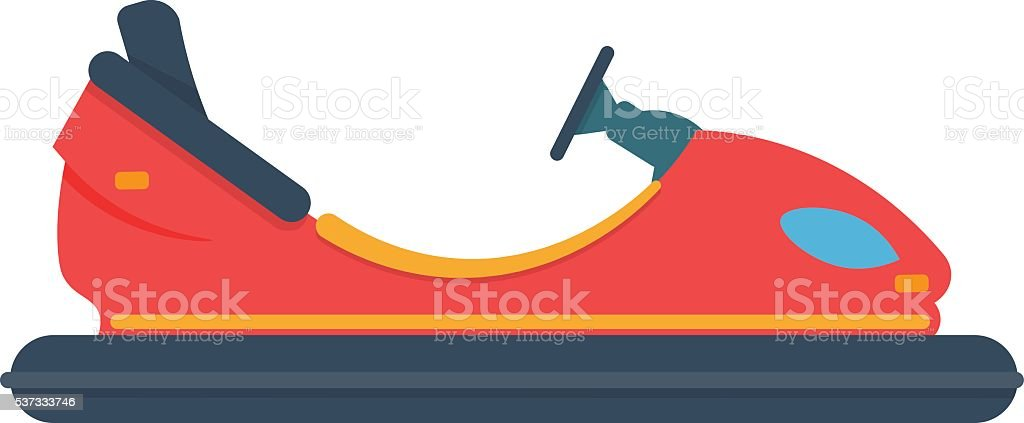 bumper car vector illustration isolated on a white background vector art illustration
