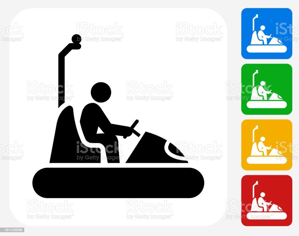 Coches plana transición de iconos de diseño gráfico - ilustración de arte vectorial
