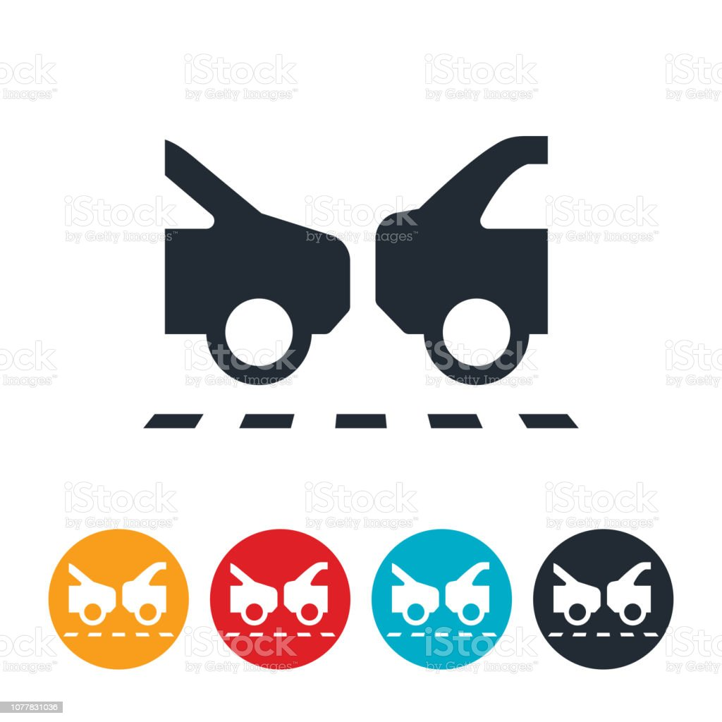 Bumper to Bumper Traffic Icon vector art illustration