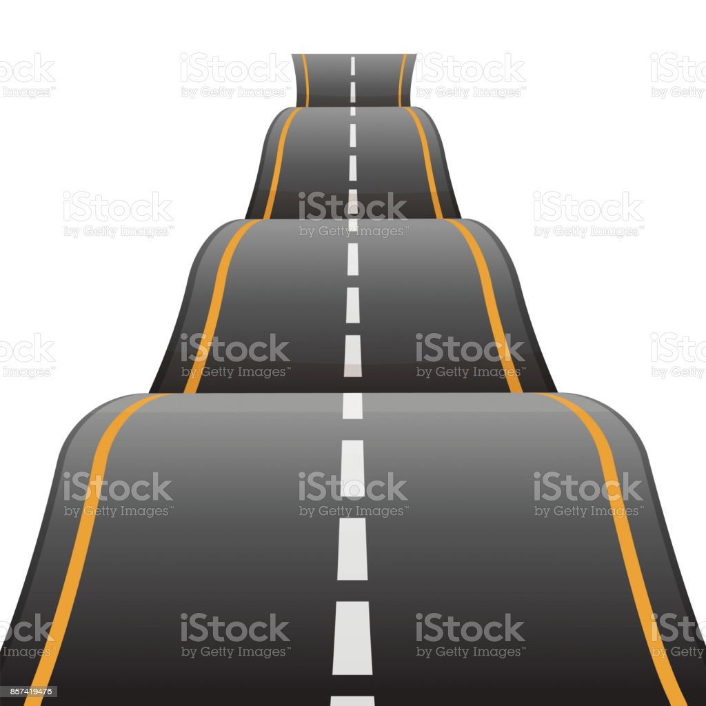 Bumpy road icon uneven dangerous wave path with marking vector royalty-free bumpy road icon uneven dangerous wave path with marking vector stock illustration - download image now