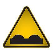 Bumpy Road Warning Sign- Vector