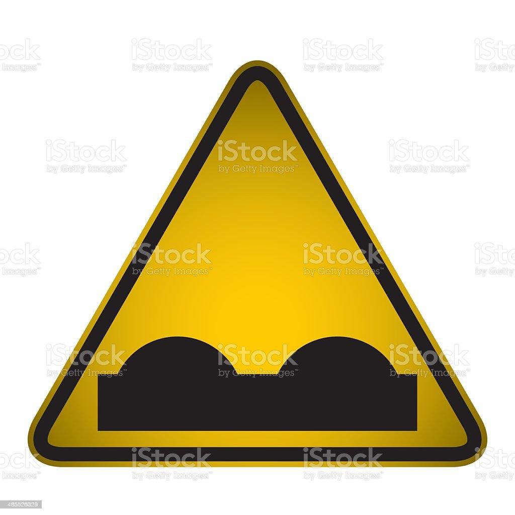 Bumpy Road Warning Sign- Vector vector art illustration