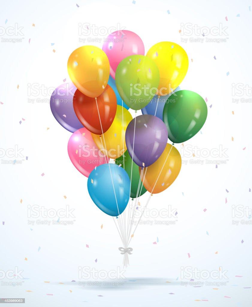 Bunch of balloons - Vector royalty-free stock vector art
