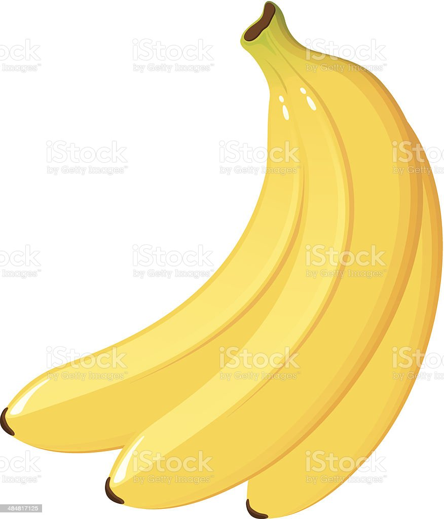 Bunch of Bananas vector art illustration