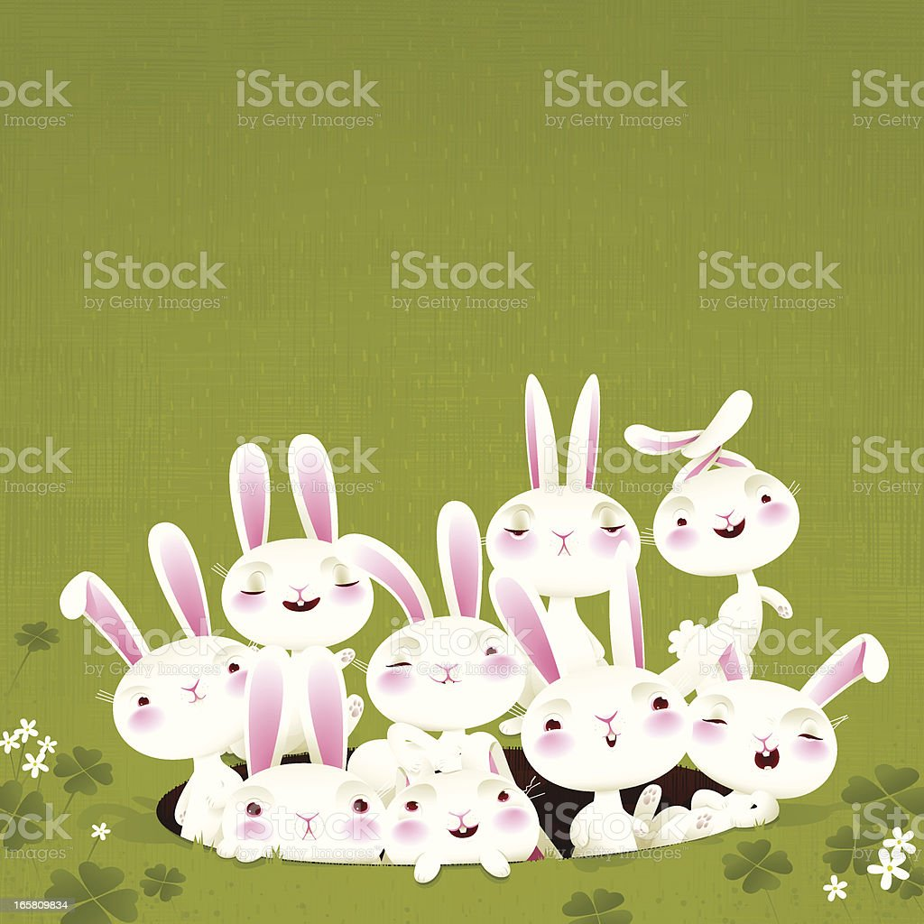Bunch of bunnies, Very detailed EPS8 vector art illustration