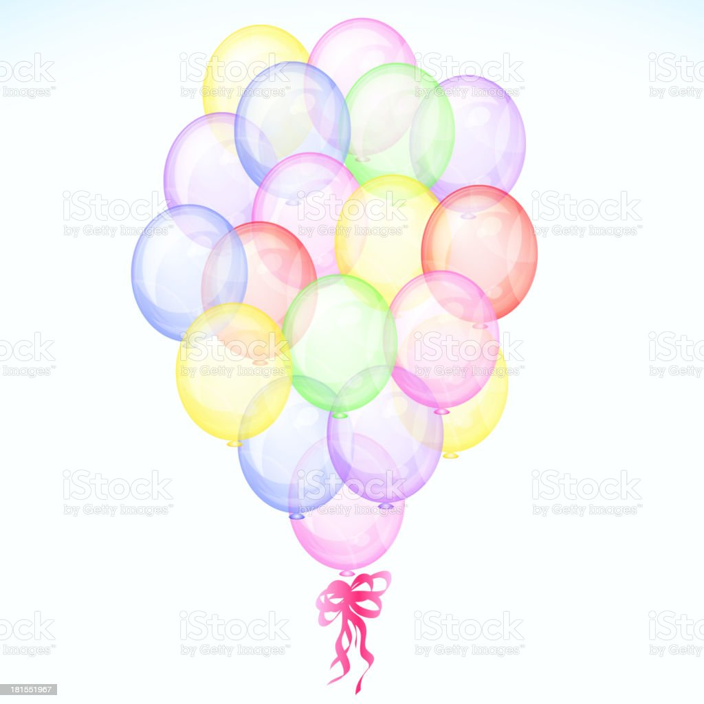 Bunch Of Colorful Balloons royalty-free stock vector art