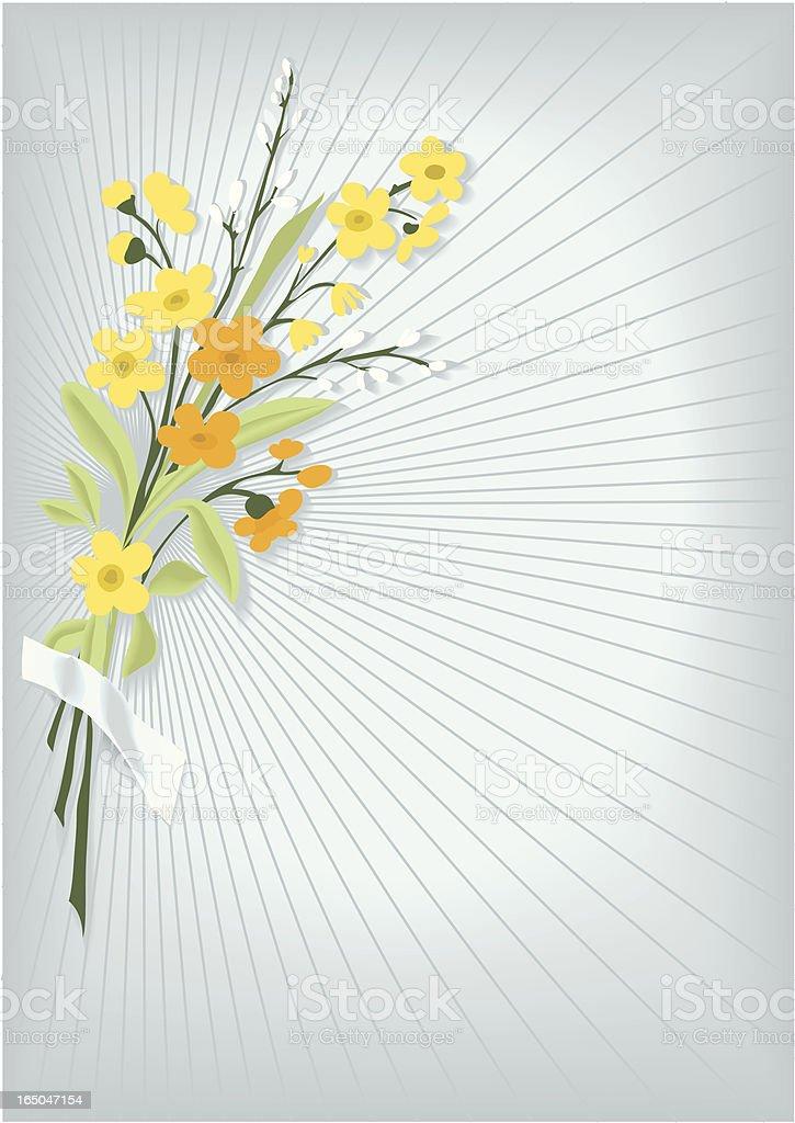 Bunch of flowers vector art illustration