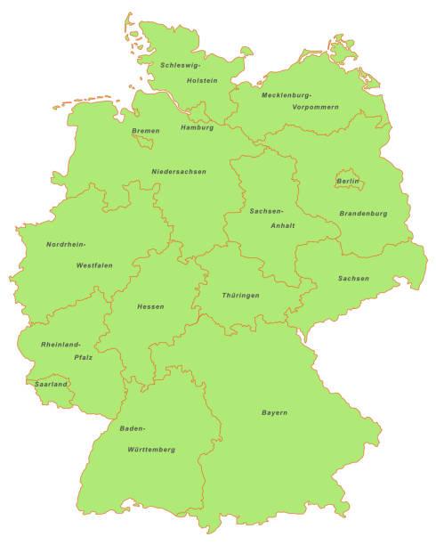 bundeslaender_gruen_schrift – Vektorgrafik