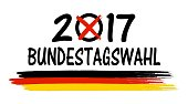 Bundestagswahl 2017 Symbol isoliert Deutschland