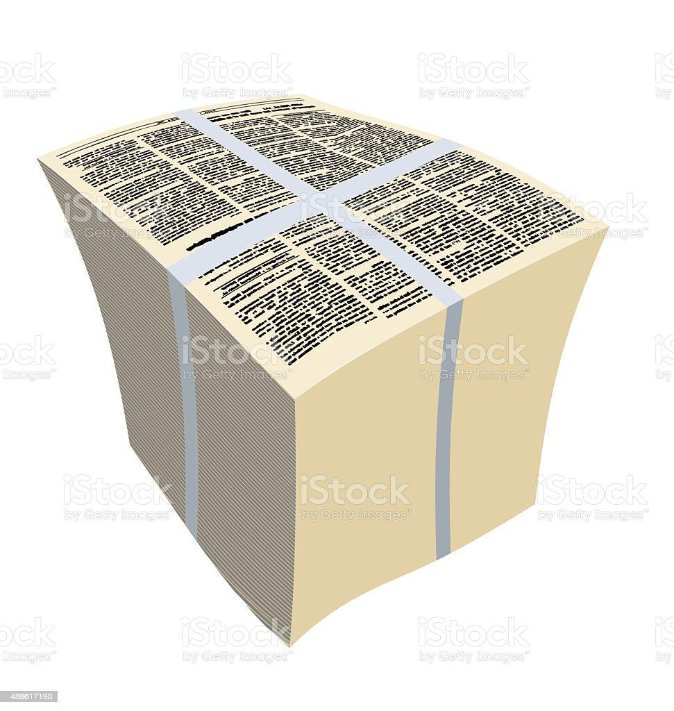 Bundle newspapers. Stack of magazines. Vector illustration vector art illustration