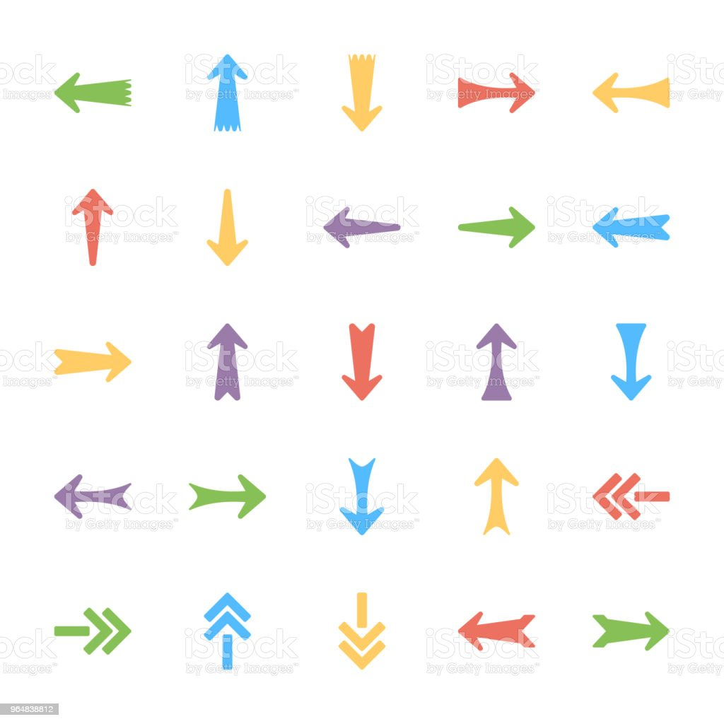 Bundle of Arrows Vector Icons royalty-free bundle of arrows vector icons stock vector art & more images of arrow - bow and arrow