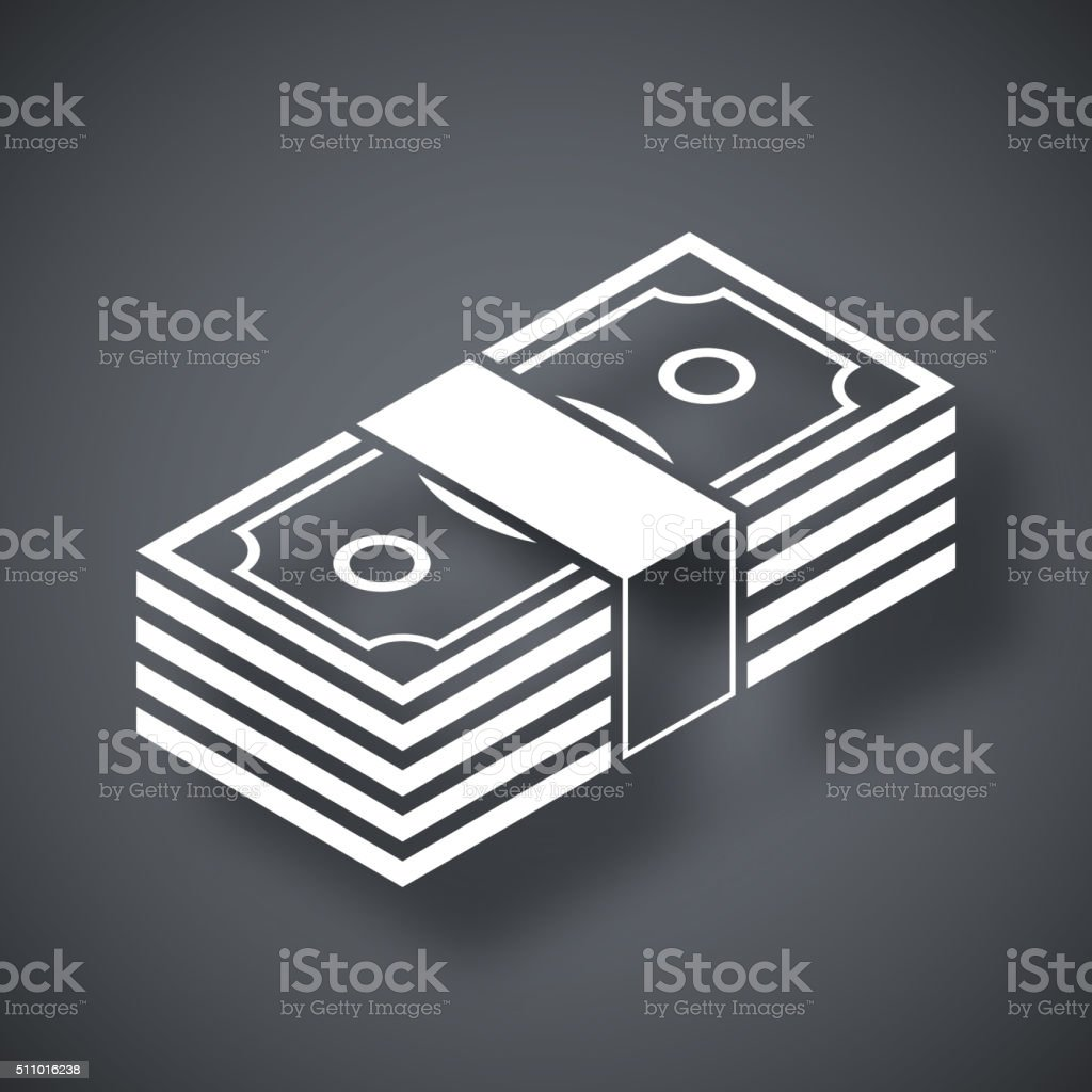 Bundle of dollars, vector icon vector art illustration