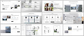 istock Bundle of editable business templates for digital app, web products. Vector templates for website design, presentations, portfolio, presentation slides, flyer, leaflet, brochure cover, annual report. 1254724356