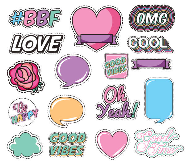 bundle of love and messages pop art style vector art illustration