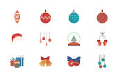 bundle of merry christmas with set icons vector illustration design
