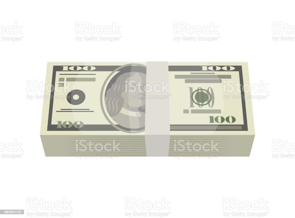 Bundle of money banknotes isolated isometric icon royalty-free bundle of money banknotes isolated isometric icon stock vector art & more images of abundance