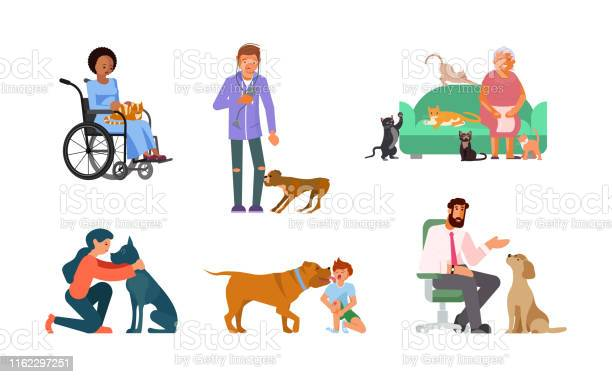 Bundle of people with their best friends vector id1162297251?b=1&k=6&m=1162297251&s=612x612&h=4vwbyaodwpvnku6cu3y 8wkfs54t6ddwng714  wbim=