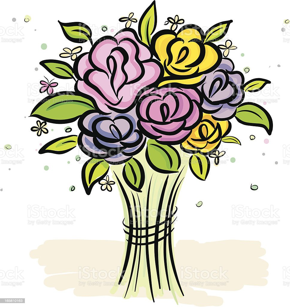 bundle rose vector art illustration