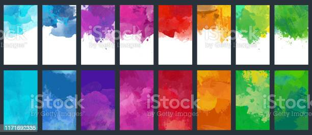 Bundle set of vector colorful watercolor background templates vector id1171692335?b=1&k=6&m=1171692335&s=612x612&h=lh6j wkteg79q6ozjstdecx4ukn7j1cy oqlb7u tpq=