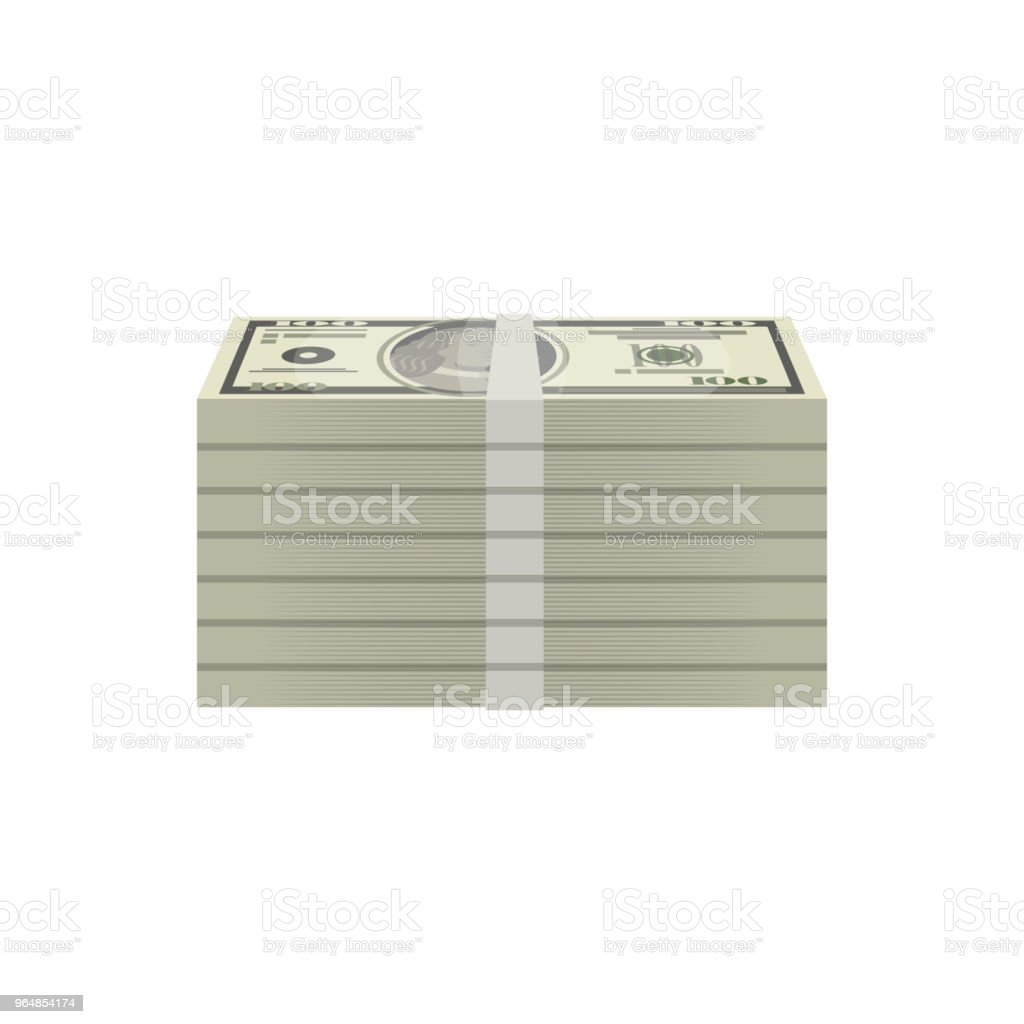 Bundles of dollar banknotes isometric icon royalty-free bundles of dollar banknotes isometric icon stock vector art & more images of abundance