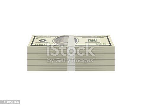 Bundles Of Paper Money Isolated Isometric Icon Stock Vector Art & More Images of Abundance 964854400