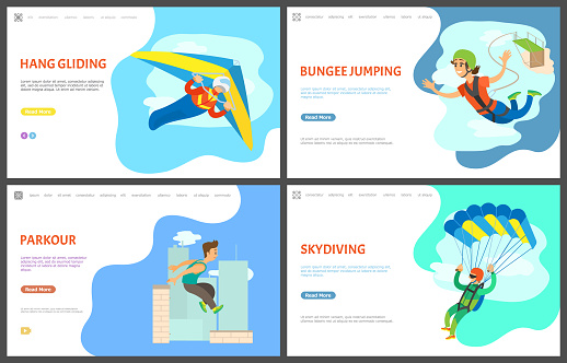 Bungee Jumping and Parkour Activity Website Set