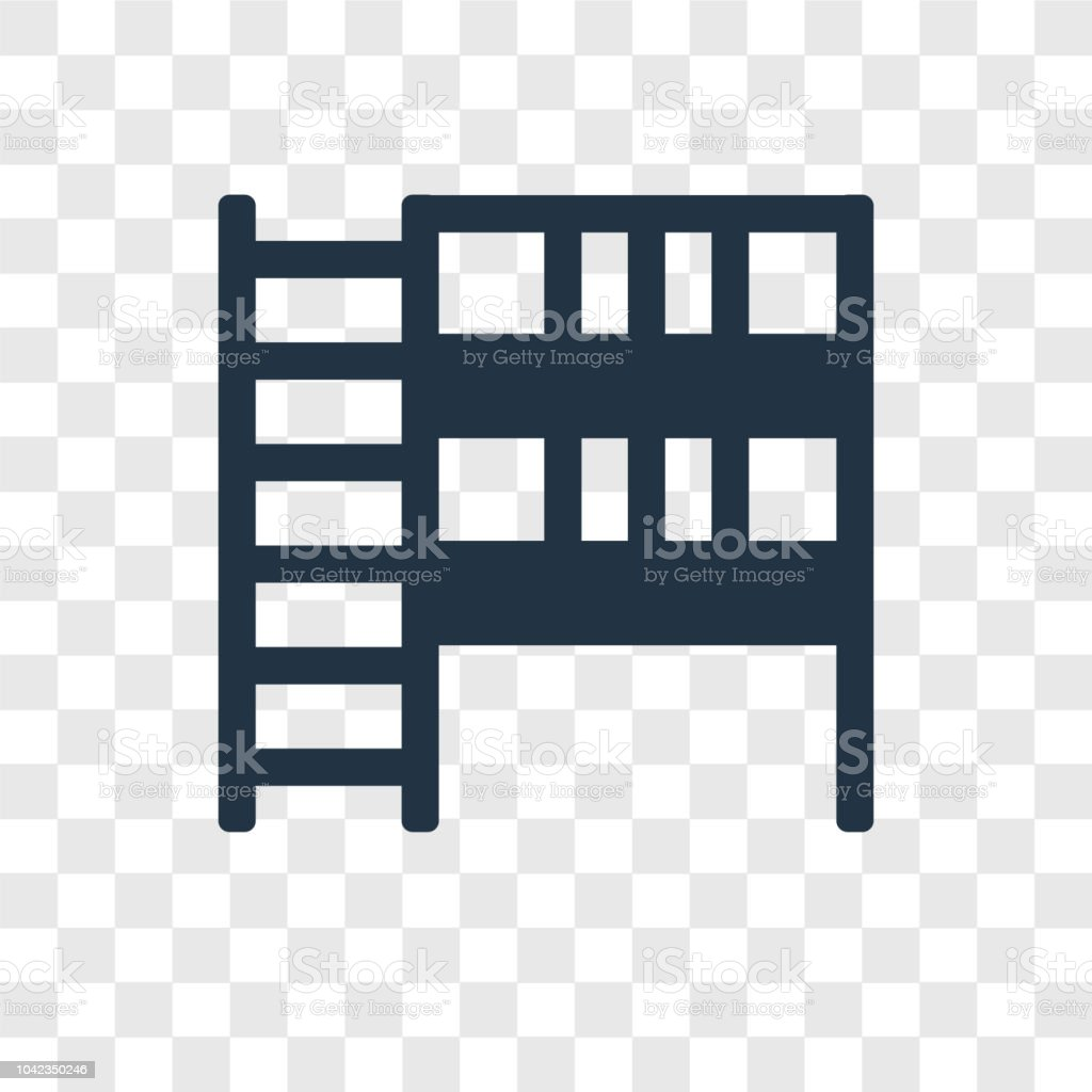 Bunk Bed Vector Icon Isolated On Transparent Background Bunk Bed
