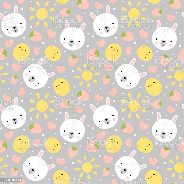 Bunny and chick pattern with strawberry vector id1009498648?b=1&k=6&m=1009498648&s=612x612&h=r0rhkela35d 1ugfkufqizdxmzb9e14lf2xkag stmo=