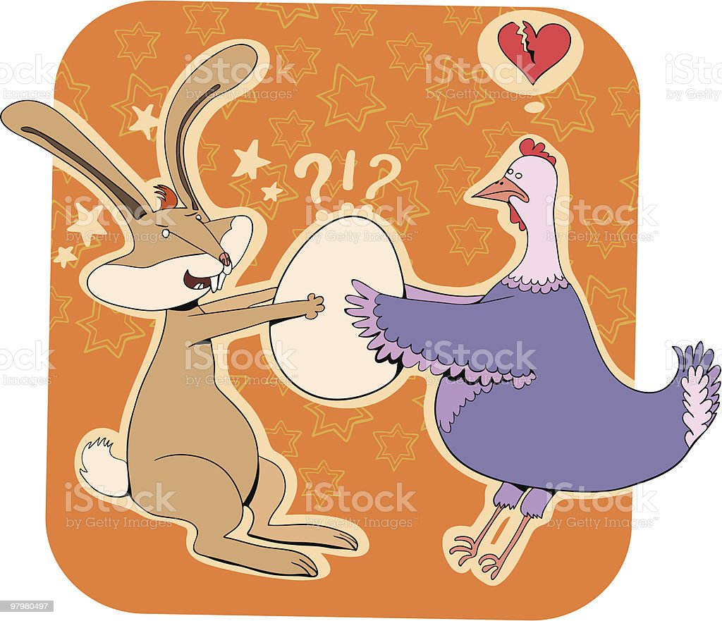 bunny and hen royalty-free bunny and hen stock vector art & more images of animal egg