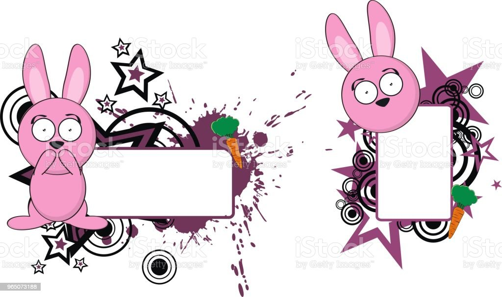 bunny cartoon copy space set royalty-free bunny cartoon copy space set stock vector art & more images of cartoon