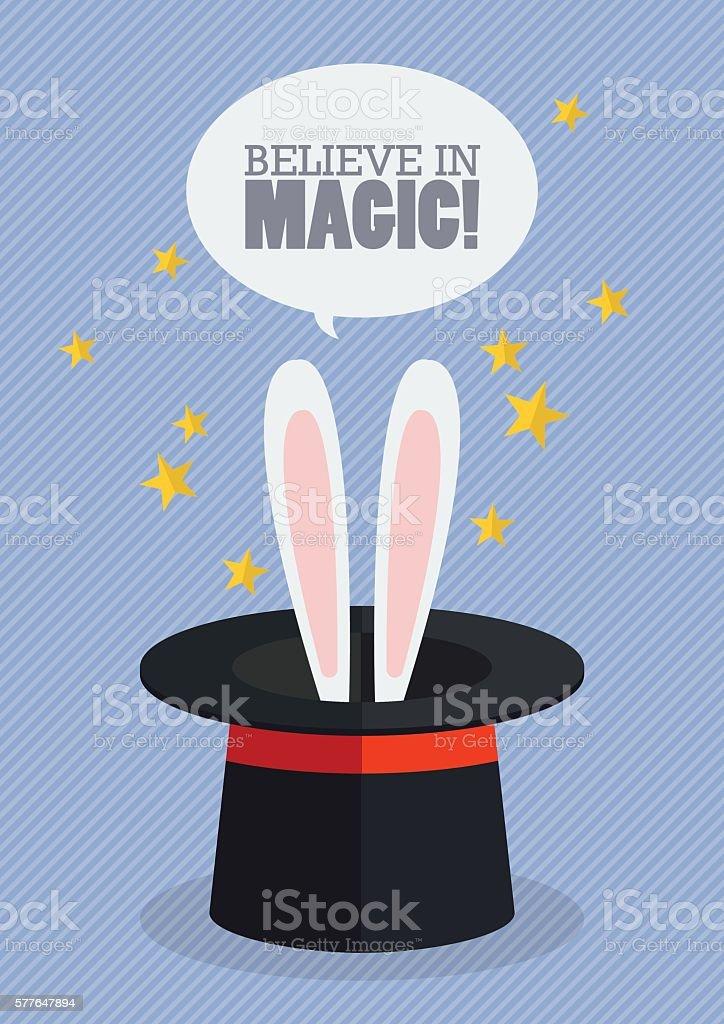 Bunny ears in magician hat