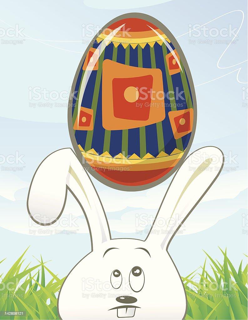 Bunny Egg Too royalty-free stock vector art