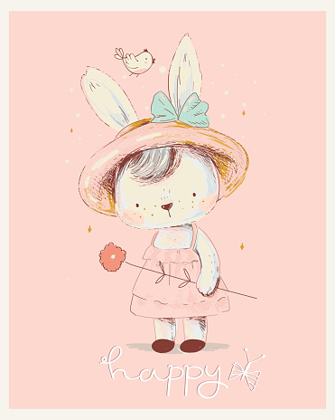 Bunny Girl wreath