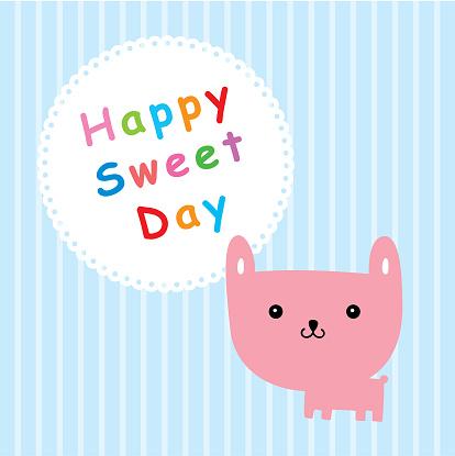 토끼 행복 달콤한 하루 귀여운에 대한 스톡 벡터 아트 및 기타 이미지
