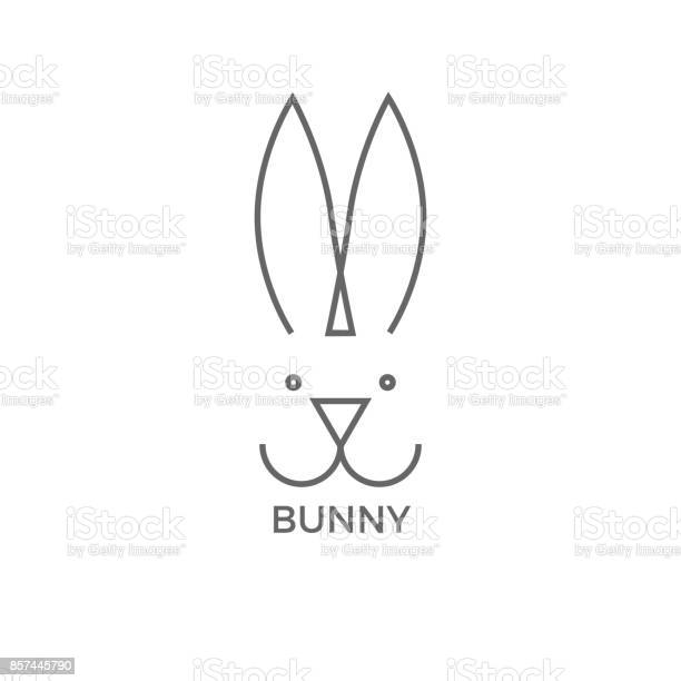 Bunny logo design simple line vector illustration isolated on white vector id857445790?b=1&k=6&m=857445790&s=612x612&h=kpqs6wqld1bbvnhxwicq9bqftsyymkwhvlvky81xqcc=