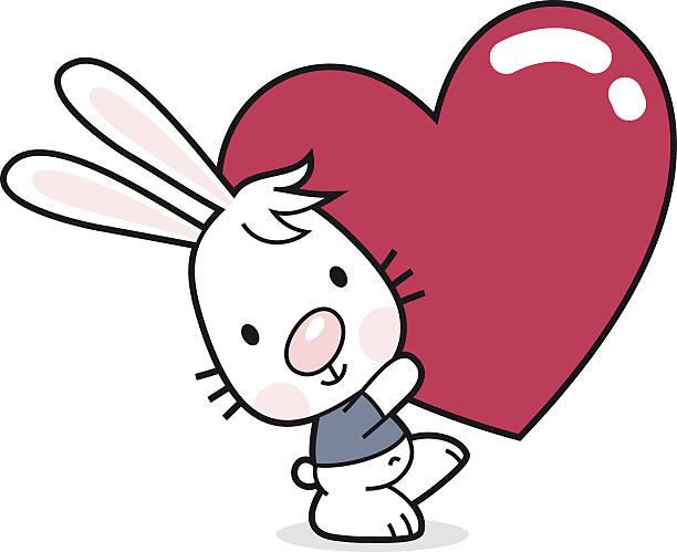 Bunny avec cœur - Illustration vectorielle