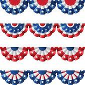 US bunting decoration