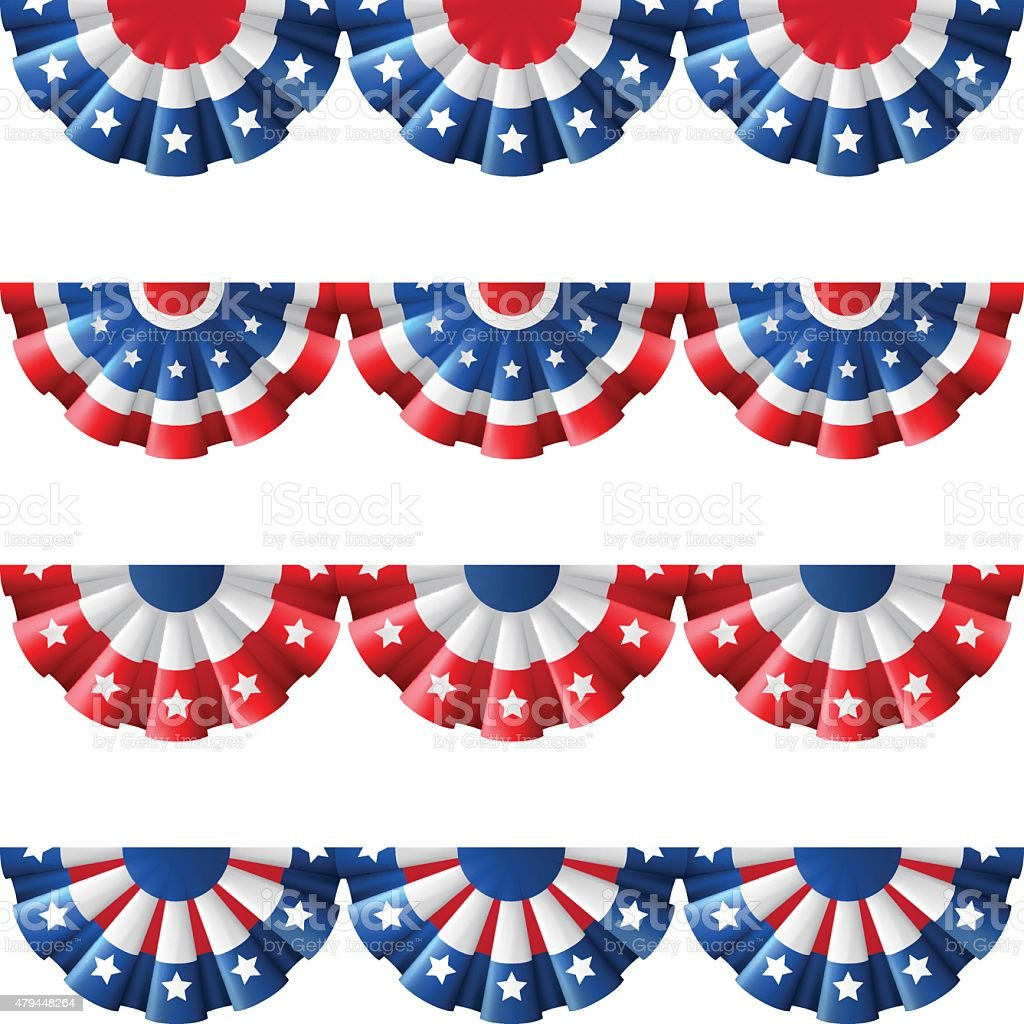 US bunting decoration vector art illustration