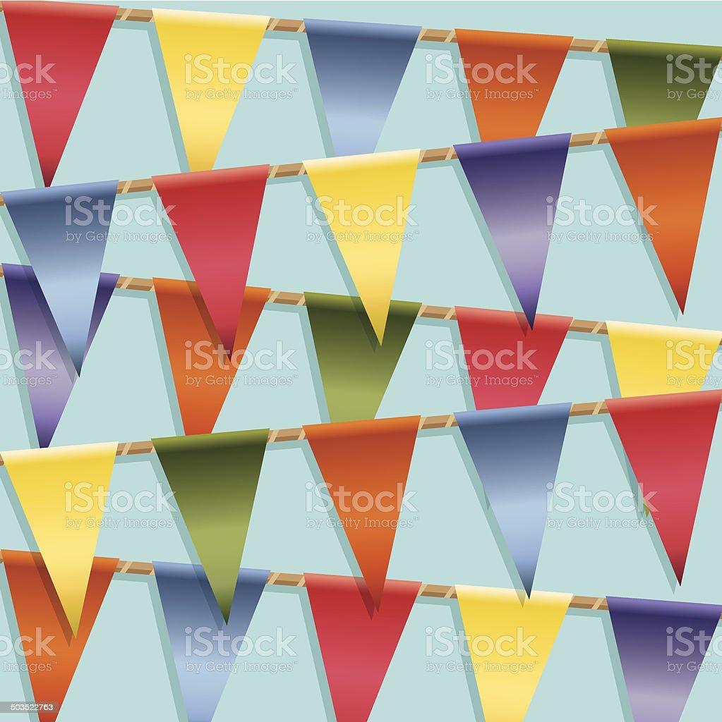 bunting decoration royalty-free stock vector art