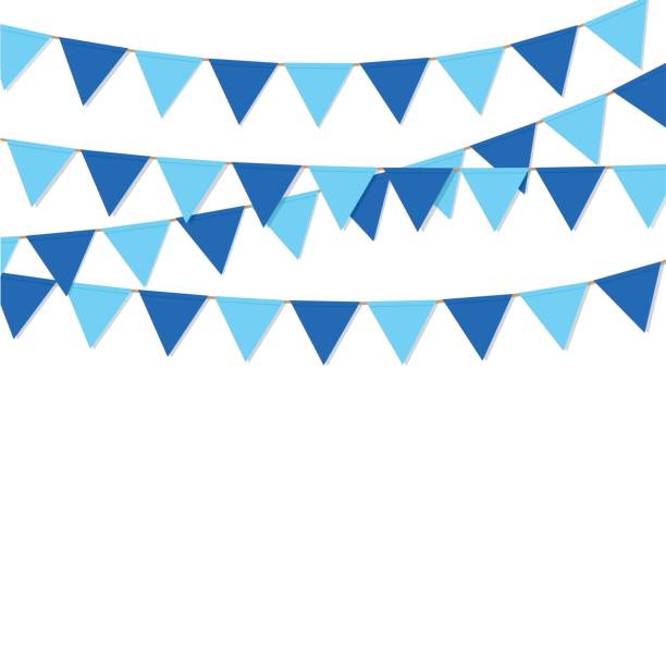 bandeira bandeiras azuis vetor isoladas de cor - ilustração de arte em vetor