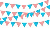 bunting flag decoration isolated vector