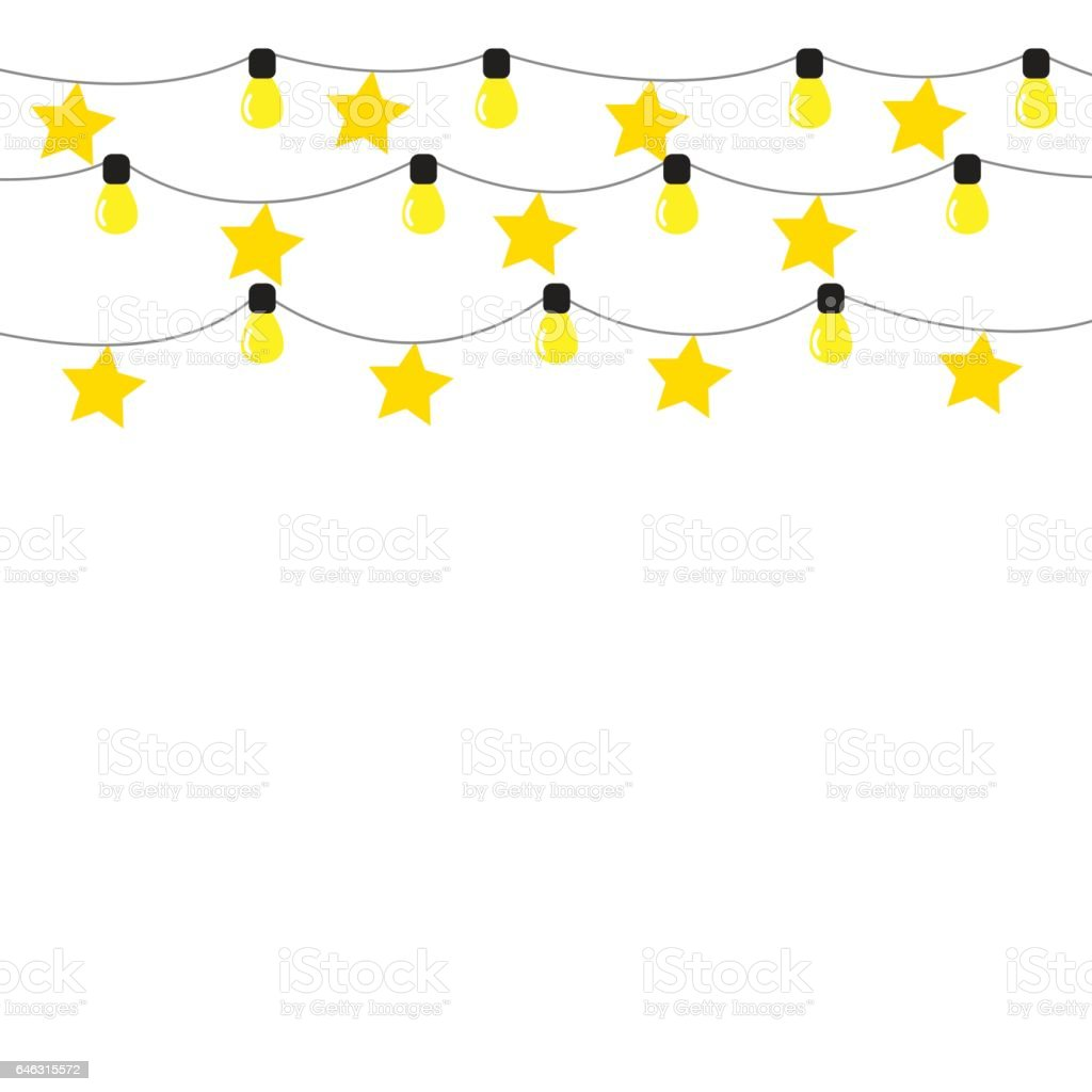 bunting lamp background isolated vector vector art illustration